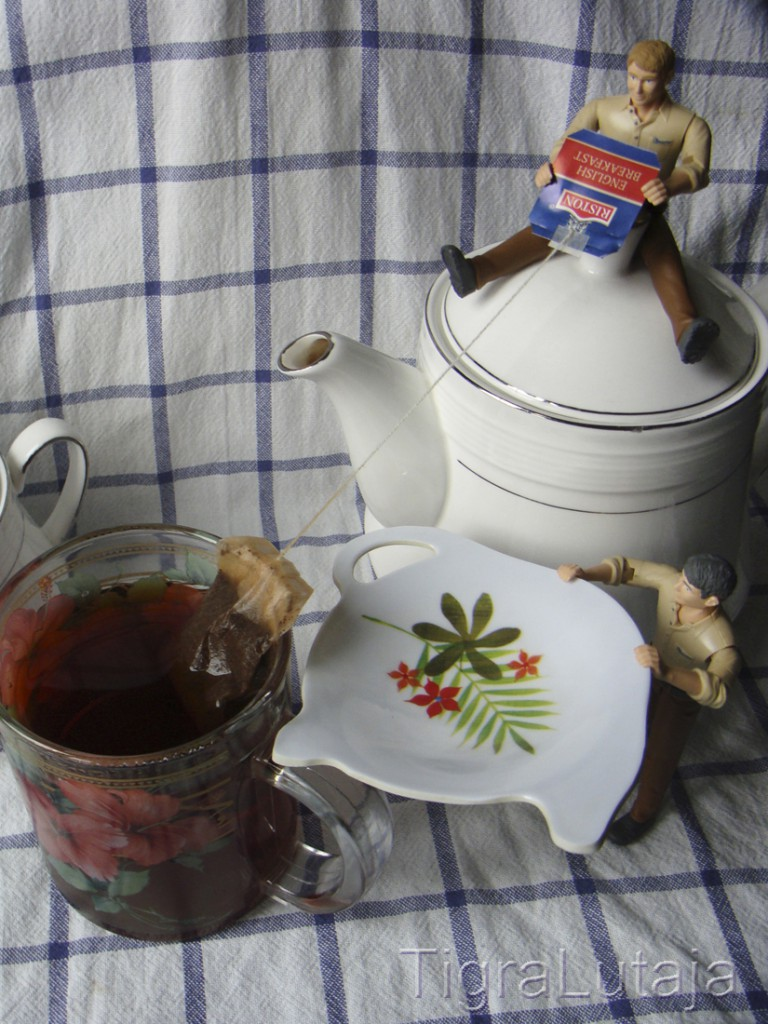 ося и киса чайная церемония