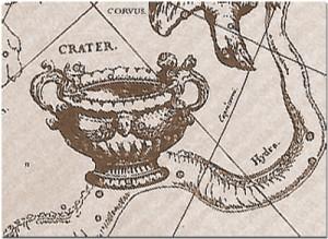 чаша, ворон и гидра