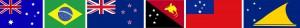 флаги с Южным Крестом