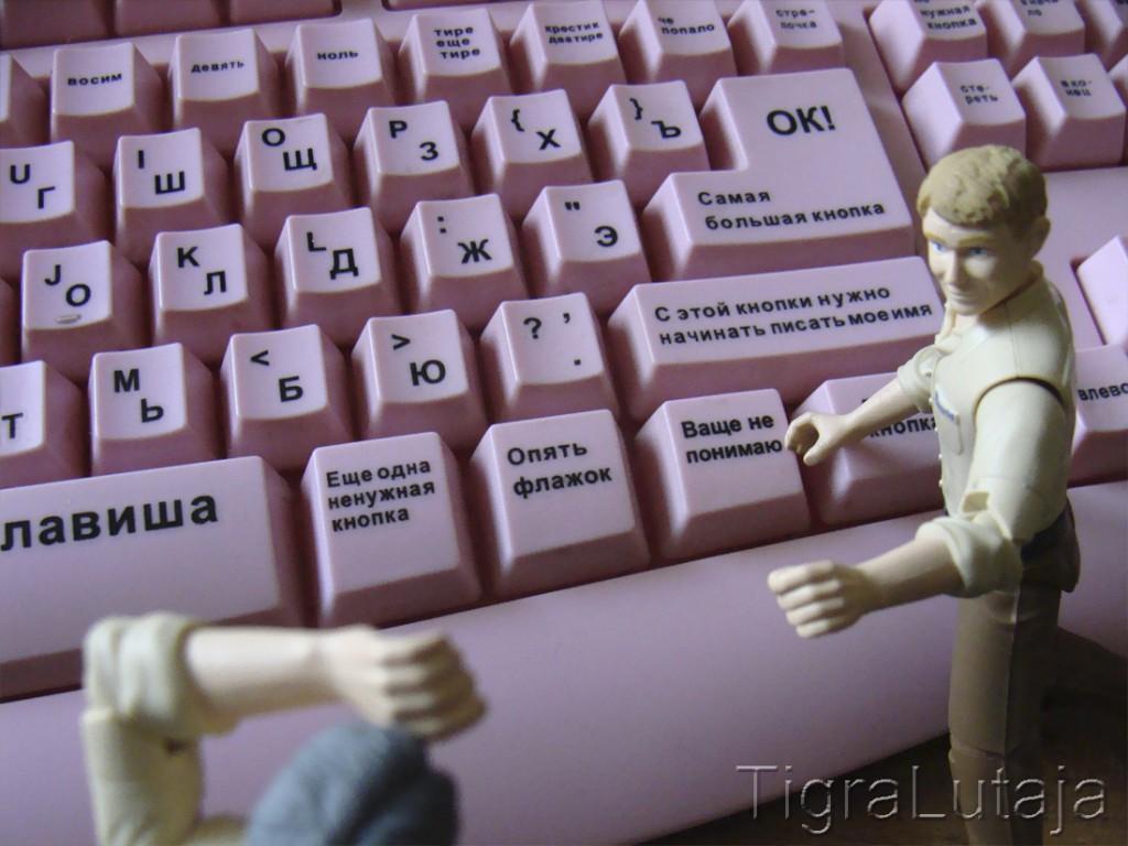 ося и киса и клавиатура для блонди