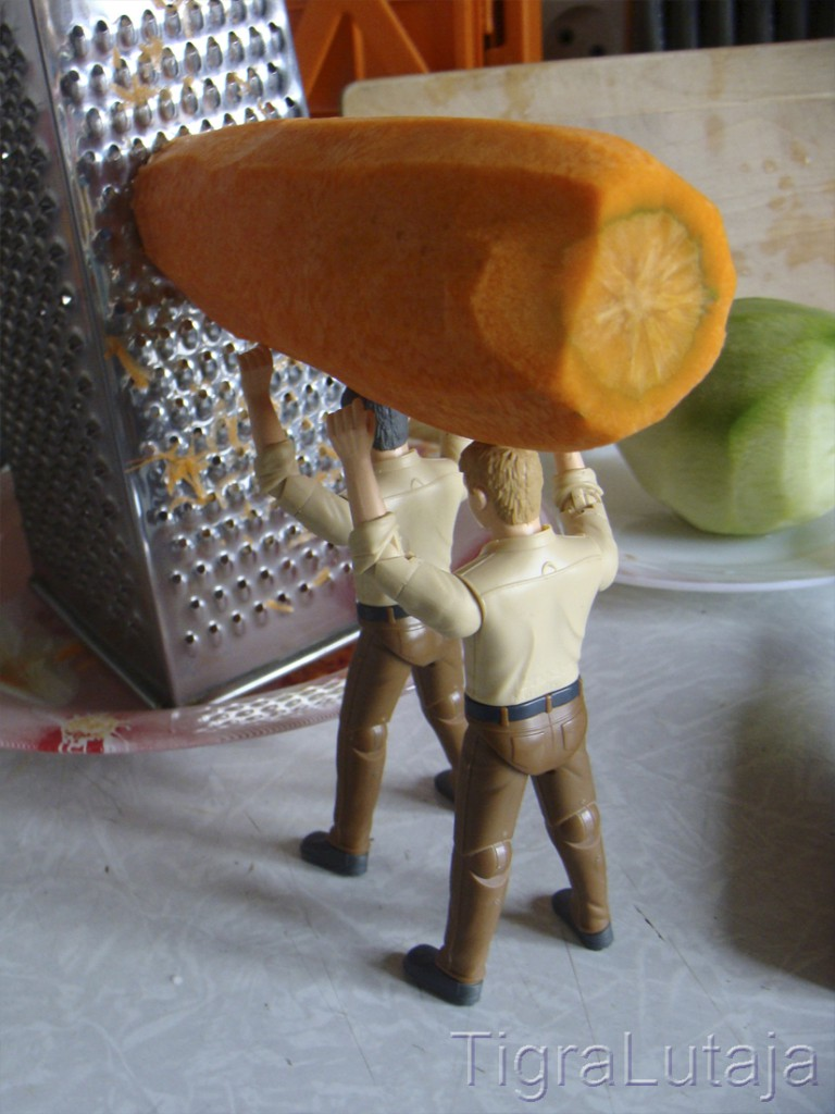 ося и киса трут морковь