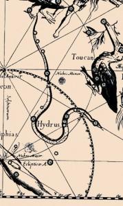 Южная Гидра в атласе Яна Гевелия