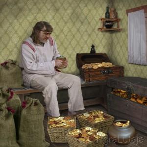 "Басня Крылова ""Бедный Богач"""