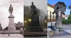 Таганрог, памятники Петру I, Чехову и Раневской