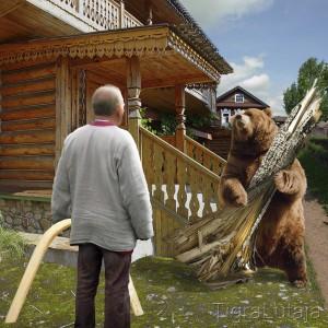 """Басня Крылова """"Трудолюбивый Медведь"""""""